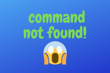 linux command not found