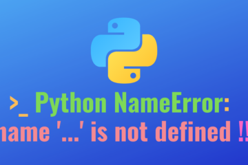 python error name is not defined