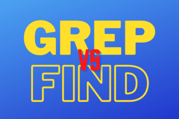 Difference between grep and find