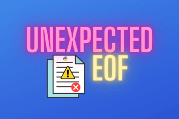 Python unexpected eof while parsing